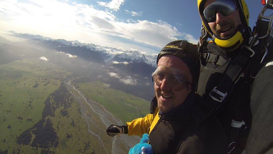 Fox Glacier is a Stray Driver's favourite place for skydiving in NZ