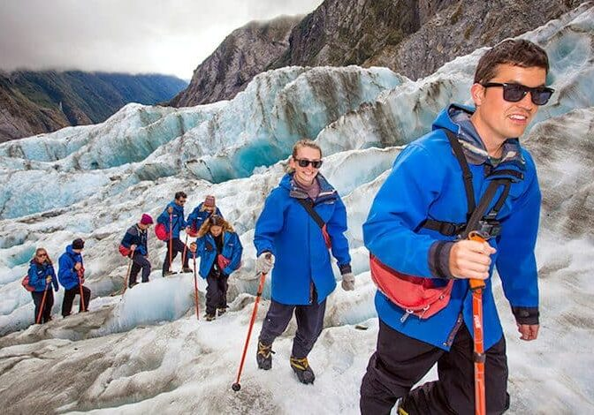 Franz Josef Glacier hike on Stray Tour